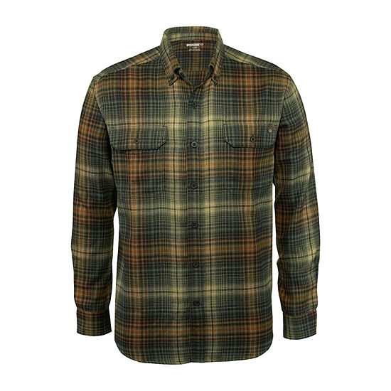 Wolverine Mens Long Sleeve Flannel Shirt