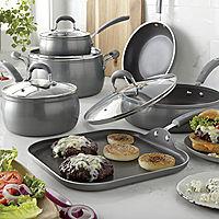Deals on Cooks Contour Belly Diamond 10-PC. Cookware Set