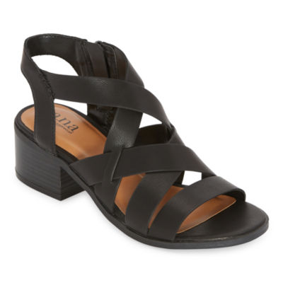a.n.a. Womens Saffron Heeled Sandals