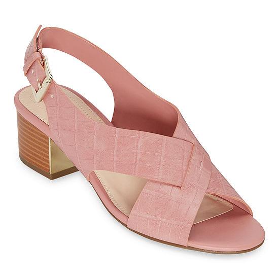 Liz Claiborne Womens Wide Width Calista Heeled Sandals