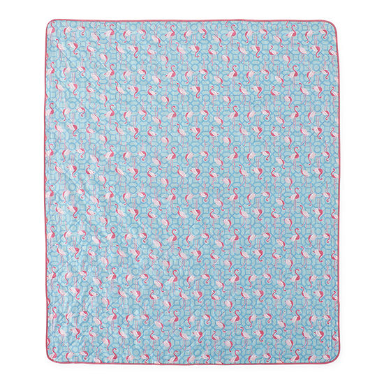 Outdoor Oasis Flamingo Blanket/Tote