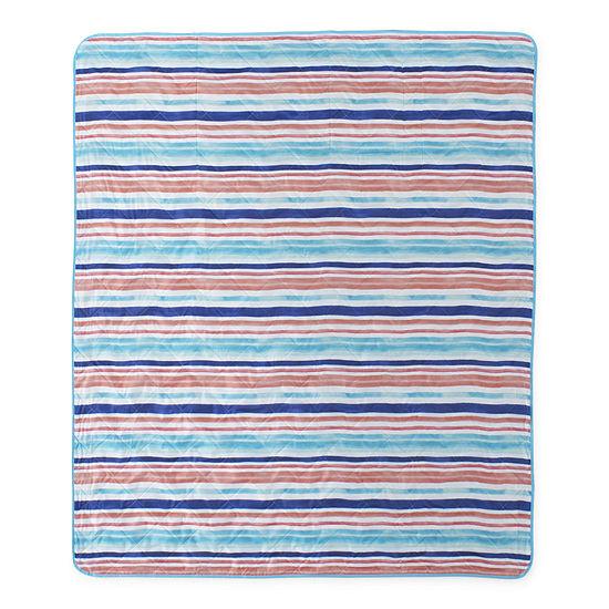 Outdoor Oasis Stripe Blanket/Tote