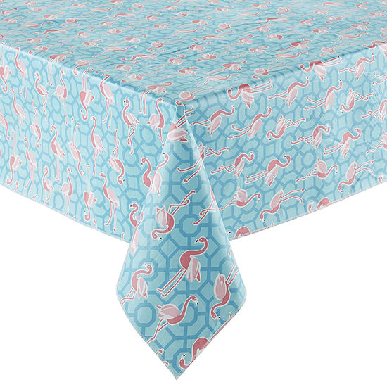 Outdoor Oasis Flamingo Printed Tablecloth