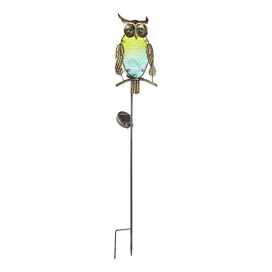 Outdoor Oasis Owl Solar Yard Stake