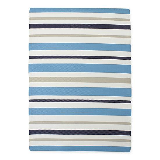 Outdoor Oasis Multi Color Stripes Rectangular Indoor/Outdoor Rugs