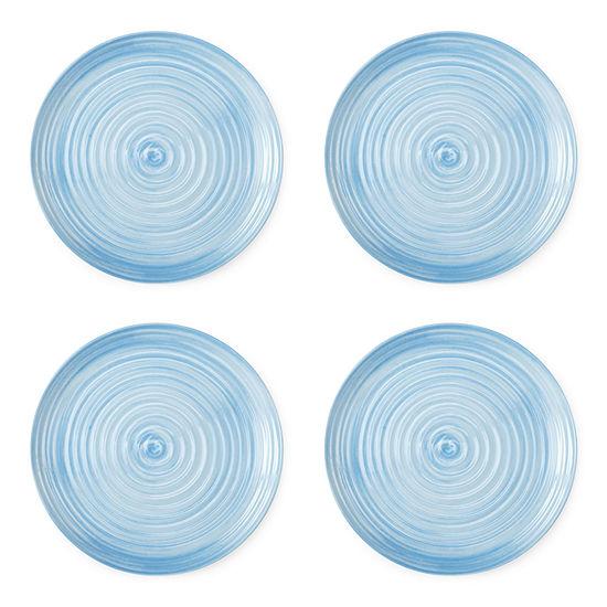 Outdoor Oasis Melamine Swirl 4-pc. Dinner Plate