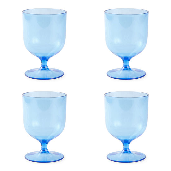 Outdoor Oasis Tinted Stackable 4-pc. Wine Glass
