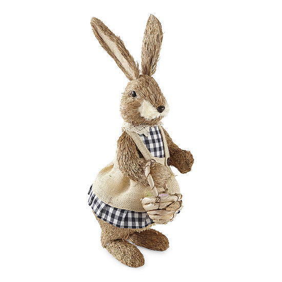 JCPenney Home Gingham Brush Girl Bunny Tabletop Decor