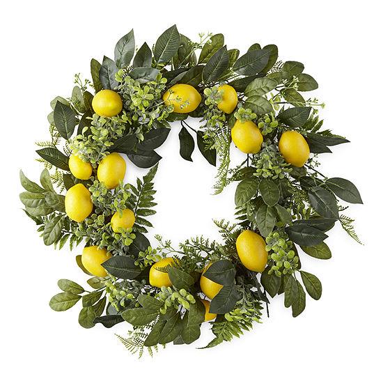 JCPenney Home Lemon Wreath