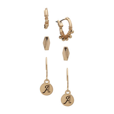 a.n.a Personalized Initial Jewelry 3 Pair Earring Set