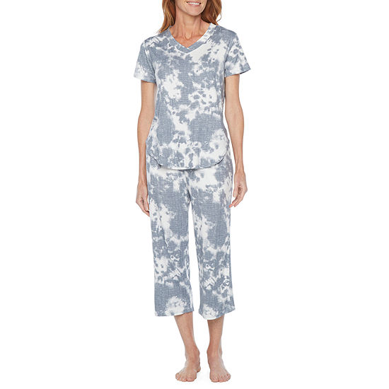Jaclyn Womens Pant Pajama Set 2-pc. Short Sleeve