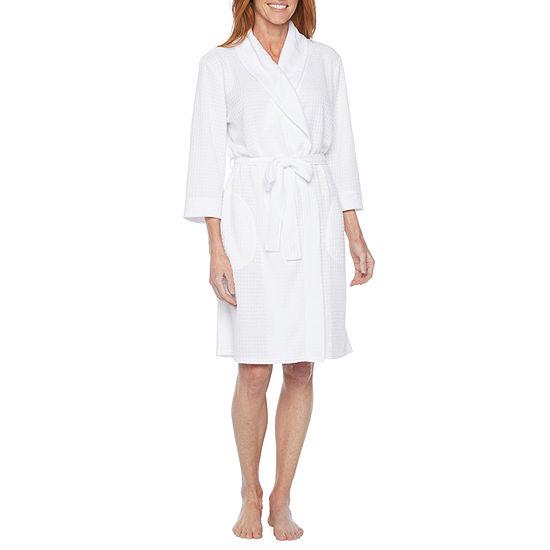 Liz Claiborne Womens Knit Robe 3/4 Sleeve Mid Length