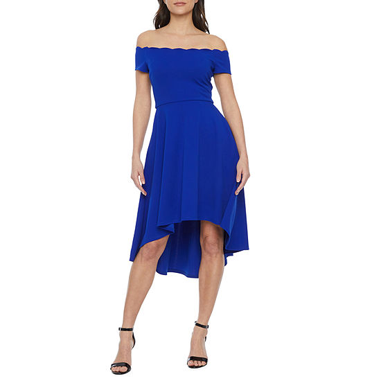 Premier Amour Off The Shoulder High-Low Dress