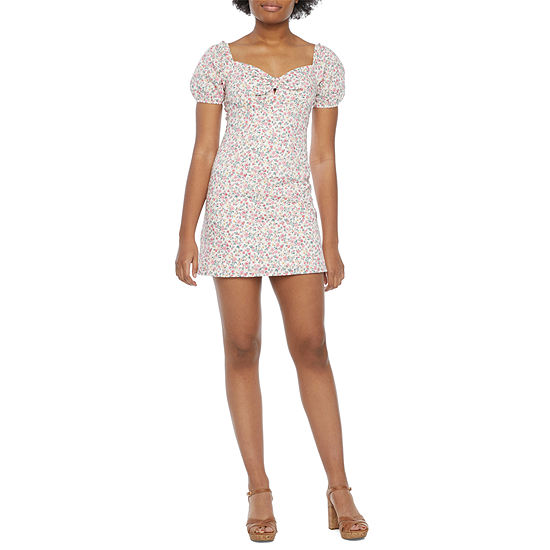City Triangle-Juniors Short Sleeve Sheath Dress
