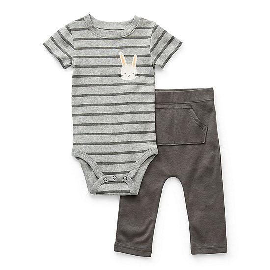 Okie Dokie Peeps Baby Boys 2-pc. Bodysuit Set