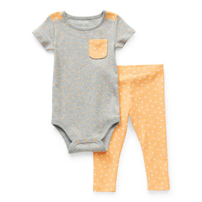Okie Dokie Baby Girls 2-pc. Bodysuit Set