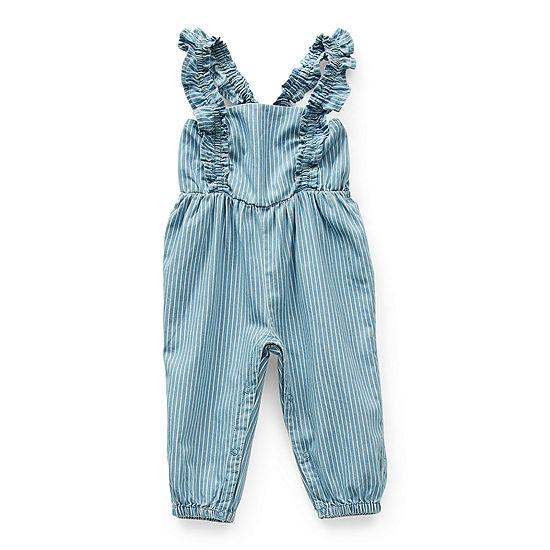 Okie Dokie Baby Girls Sleeveless Jumpsuit
