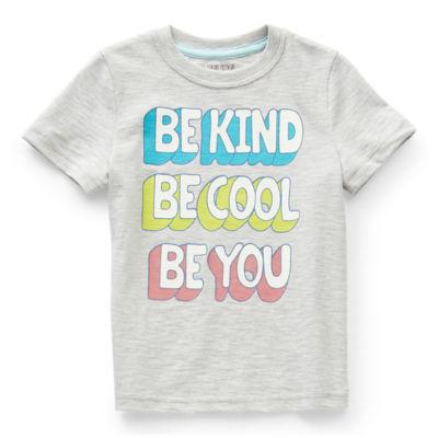 Okie Dokie Toddler Boys Crew Neck Short Sleeve Graphic T-Shirt