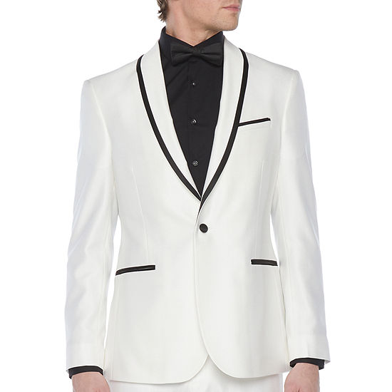 JF J.Ferrar Mens Stretch Classic Fit Tuxedo Jacket