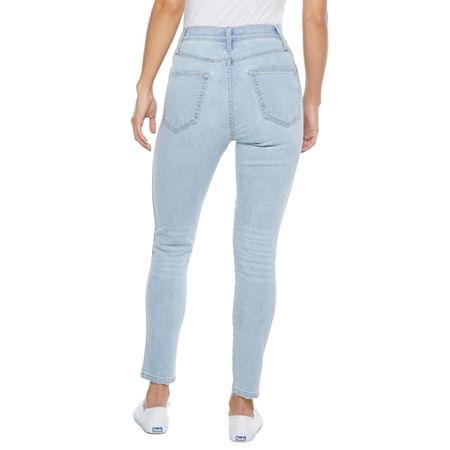 80s Jeans, Pants, Leggings Arizona - Juniors Womens High Rise Skinny Fit Jean 0  Blue $22.49 AT vintagedancer.com
