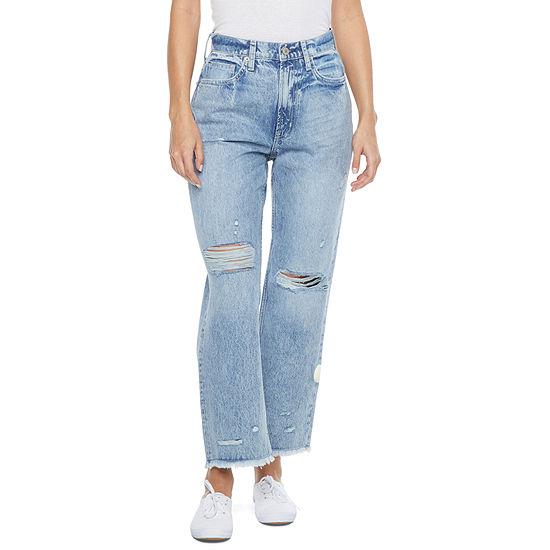 Arizona - Juniors Womens High Rise Straight Leg Jean