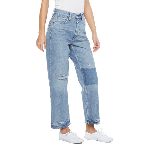 Arizona - Juniors Womens High Rise Straight Leg Jean
