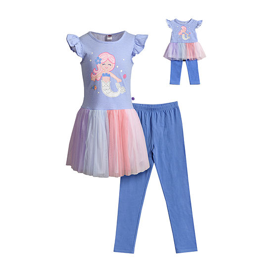 Dollie And Me Little & Big Girls 2-pc. Legging Set