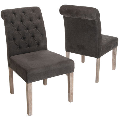 Truman Set of 2 Tufted Parsons Dining Chairs