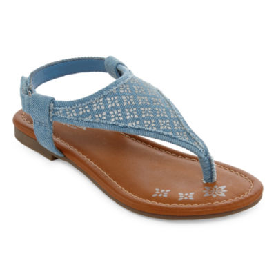 Arizona Aster Girls Flat Sandals - Little Kids