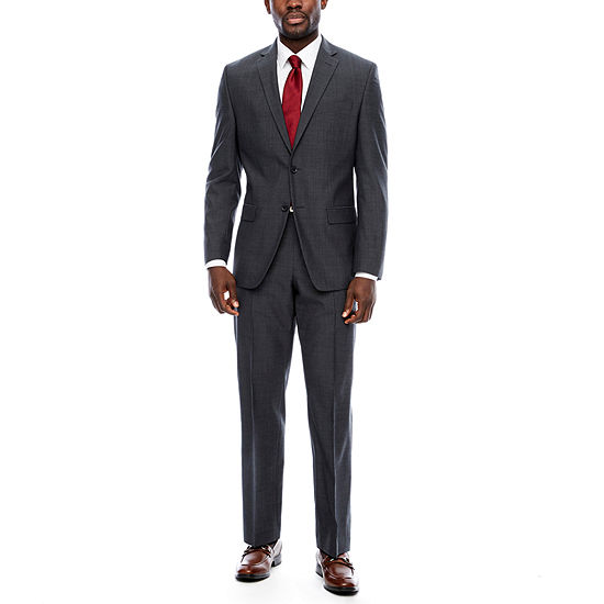 Collection by Michael Strahan Charcoal Tic Suit Separates- Classic Fit