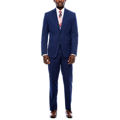 Collection by Michael Strahan Blue Stripe Suit Separates-Classic Fit
