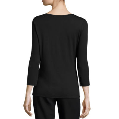 Worthington 3/4 Sleeve V Neck Tee
