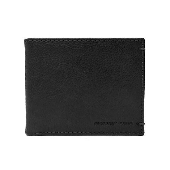 Geoffrey Beene Stitched Bi Fold Wallet With Bar Tacks