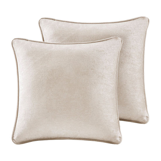 Intelligent Design Julian 18x18 Chenille 2-Pack Square Throw Pillow