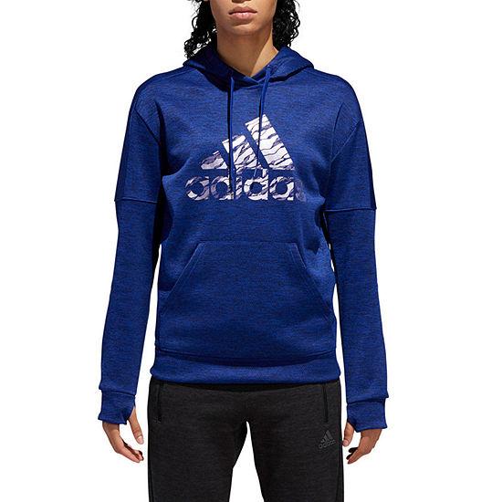 adidas Team Issue Bos Camo  Hoodie Womens Crew Neck Long Sleeve Hoodie