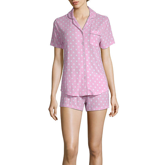 Pj Couture Women's Notch Collar Short Pajama Set
