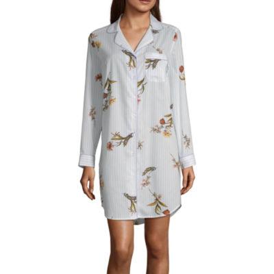 Liz Claiborne® Women's Notch Collar Nightshirt