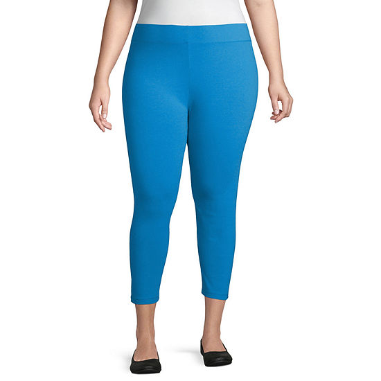 Mixit Criss Cross Capri Plus Womens Legging - Plus