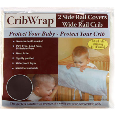 Trend Lab® CribWrap® Brown Side Rail Covers