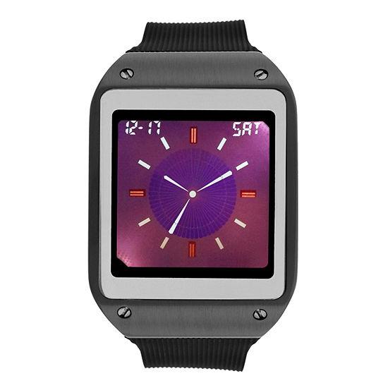Geneva Mens Digital Black Strap Watch-33729
