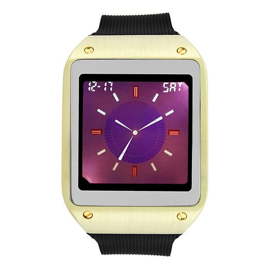 Geneva Mens Digital Black Strap Watch-33731
