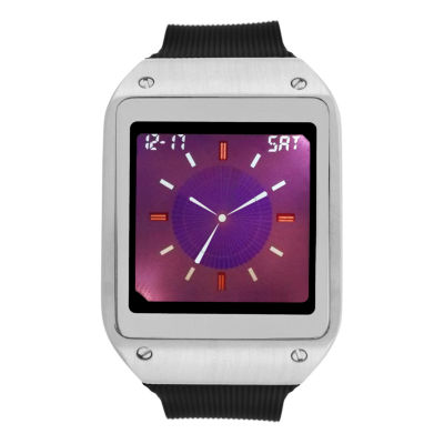 Geneva Mens Black Strap Watch-33733
