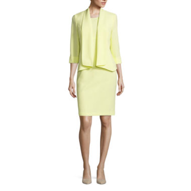 jcpenney.com | Black Label by Evan-Picone ¾ Sleeve Open-Front Jacket with Sleeveless Sheath Dress