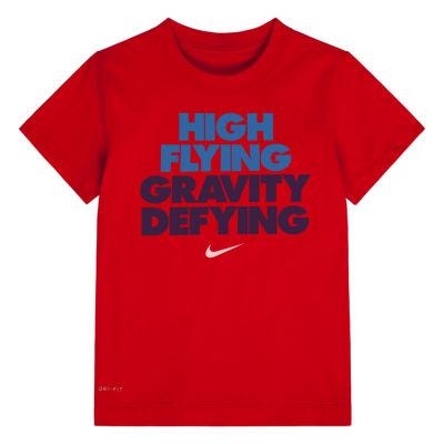 Nike Boys Crew Neck Short Sleeve Graphic T-Shirt