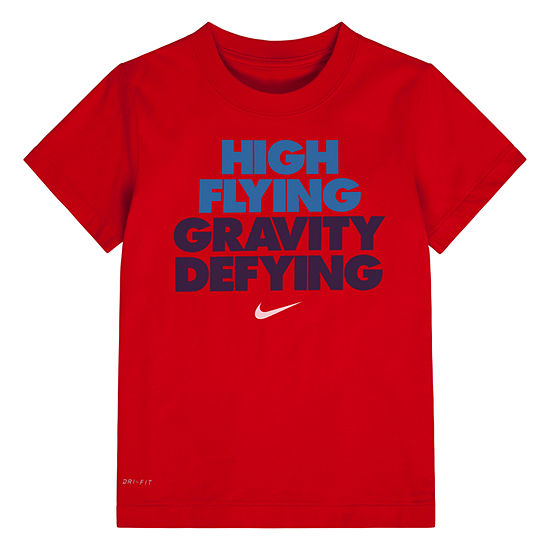 Nike Boys Crew Neck Short Sleeve Graphic T-Shirt - Preschool