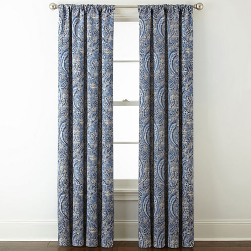 Royal Velvet Florence Room Darkening Rod Pocket Back Tab Curtain Panel
