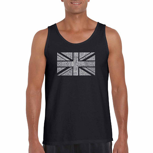 "Los Angeles Pop Art Short Sleeve ""Me Union Jack"" T-Shirt-Big And Tall"