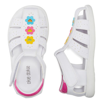 Okie Dokie Thebe Girls Flat Sandals - Toddler