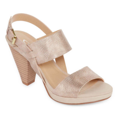 CL by Laundry Waverly Womens Pumps Buckle Open Toe Cone Heel