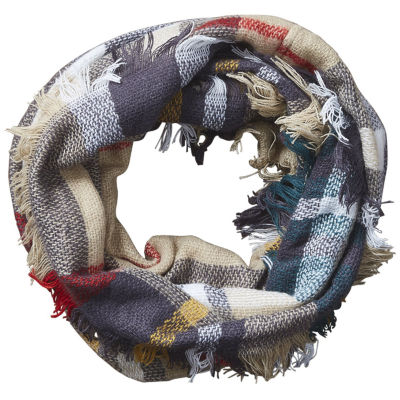 Design Imports Plaid Infinity Cold Weather Scarf